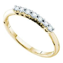 14KT Yellow Gold 0.20CT DIAMOND FASHION BAND #66434v2