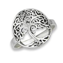 Tree Of Life Ring STERLING SILVER SIZES 5-10 #18163v3
