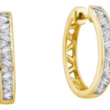 14KT Yellow Gold 0.51CT DIAMOND FASHION HOOPS #62947v2