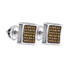 925 Sterling Silver White 0.23CT DIAMOND MICRO-PAVE EARRINGS #59557v2