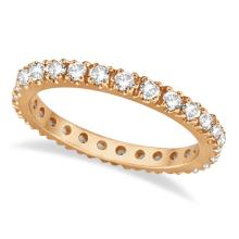 Diamond Eternity Stackable Ring Wedding Band 14K Rose Gold (0.51ct) #20909v3
