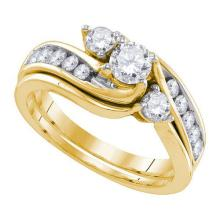 14K Yellow-gold 1.00CT DIAMOND 0.33CT-CRD BRIDAL SET #58926v2