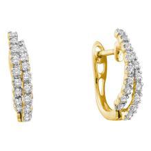 14KT Yellow Gold 0.25CTW DIAMOND FASHION HOOPS #52762v2