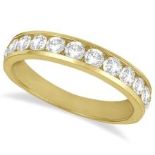 Channel-Set Diamond Anniversary Ring Band 14k Yellow Gold (1.05ct) #21306v3