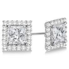 Square Diamond Earring Jackets Pave-Set 14k White Gold (0.50ct) #21303v3