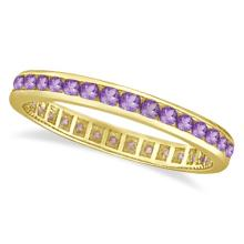 Amethyst Channel Set Eternity Ring Band 14k Yellow Gold (1.00ct) #21070v3