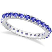 Tanzanite Eternity Stackable Ring Band 14K White Gold (0.75ct) #20514v3