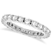 Diamond Eternity Ring Wedding Band 14k White Gold (1.07ctw) #51651v3