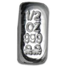 1/2 oz Silver Bar - Skull & Bones (Atlantis Mint) #21765v3