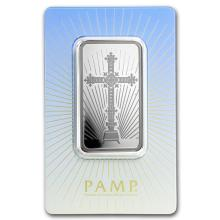 1 oz Silver Bar - PAMP Suisse Religious Series (Romanesque Cross) #21827v3