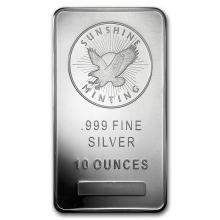 10 oz Silver Bar - Sunshine (V2) #21728v3