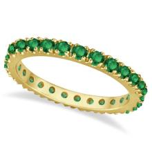 Emerald Eternity Stackable Ring Band 14K Yellow Gold (0.75ct) #20753v3