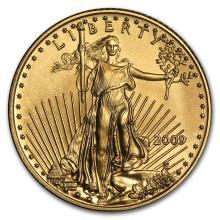 2009 1/10 oz Gold American Eagle BU #22668v3