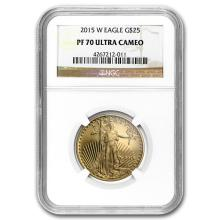 2015-W 1/2 oz Proof Gold American Eagle PF-70 NGC #22674v3