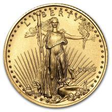 2005 1/10 oz Gold American Eagle BU #22675v3