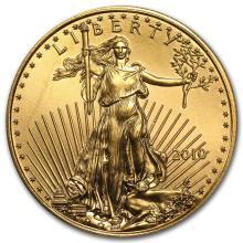 2010 1/2 oz Gold American Eagle BU #22669v3