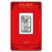 10 gram Silver Bar - PAMP Suisse (Year of the Monkey) #21821v3