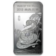 10 oz Silver Bar - (2013 Year of the Snake) #21834v3