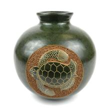 6 inch Tall Vase - Turtle - Esperanza en Accion #87922v2