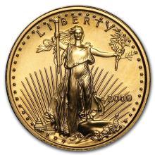 2000 1/10 oz Gold American Eagle BU #22667v3