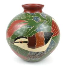 6 inch Tall Vase - White Bird - Esperanza en Accion #87920v2