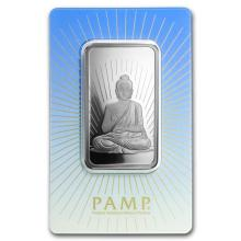 1 oz Silver Bar - PAMP Suisse Religious Series (Buddha) #21840v3