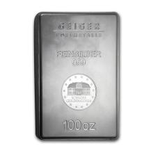 100 oz Silver Bar - Geiger (Security Line Series, New) #21836v3