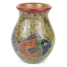 6 inch Tall Vase Fish Design - Esperanza en Accion #87925v2