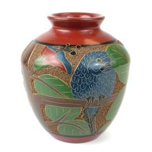 6 inch Tall Vase - Parrot - Esperanza en Accion #87923v2
