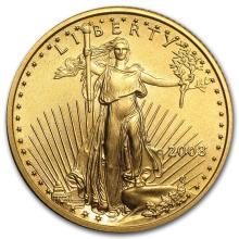 2003 1/4 oz Gold American Eagle BU #22677v3