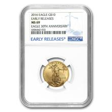 2016 1/4 oz Gold American Eagle MS-69 NGC (Early Releases) #22673v3