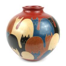 6 inch Tall Vase - Cats - Esperanza en Accion #87927v2