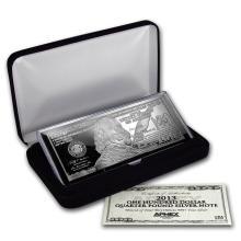 4 oz Silver Bar - Random Year $100 Bill (W/Box & COA) #21848v3
