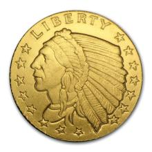1/10 oz Gold Round - Incuse Indian #22424v3