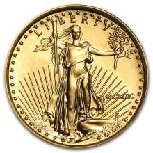 1990 1/10 oz Gold American Eagle BU (MCMXC) #22676v3