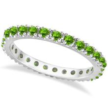 Peridot Eternity Stackable Ring Band 14K White Gold (0.75ct) #53806v3