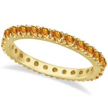 Citrine Eternity Stackable Ring Band 14K Yellow Gold (0.75ct) #53805v3
