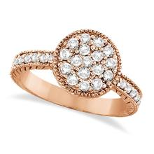 Circle Diamond Right Hand Cocktail Ring in 14k Rose Gold (0.55ct) #53487v3