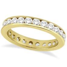 Channel-Set Diamond Eternity Ring Band 14k Yellow Gold (1.75 ct) #53822v3