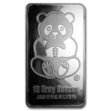10 oz Silver Bar - Sunshine (Panda, Proof-like) #21928v3