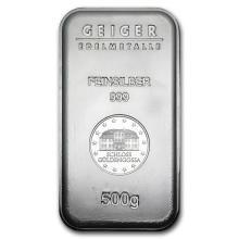 500 gram Silver Bar - Geiger (Security Line Series) #21807v3