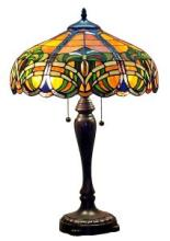 TIFFANY STYLE 2-LIGHT 25-INCH BAROQUE TABLE LAMP #99533v2