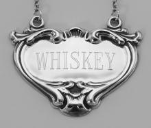 Whiskey Liquor Decanter Label / Tag - Sterling Silver #98021v2