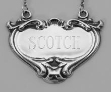 Scotch Liquor Decanter Label / Tag - Sterling Silver #98018v2