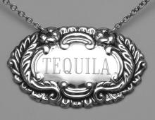 Tequila Liquor Decanter Label / Tag - Sterling Silver #98448v2