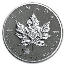 2012 Canada 1 oz Silver Maple Leaf Titanic Privy (Spotting) #22007v3