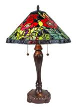 TIFFANY POPPIES STYLE TABLE LAMP, 25 INCHES #99542v2