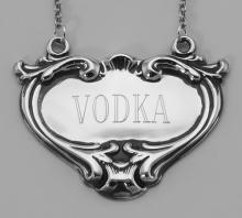 Vodka Liquor Decanter Label / Tag - Sterling Silver #98017v2