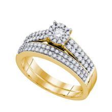 14KT Yellow Gold 0.67CT DIAMOND BRIDAL SET #64449v2