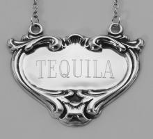 Tequila Liquor Decanter Label / Tag - Sterling Silver #98450v2